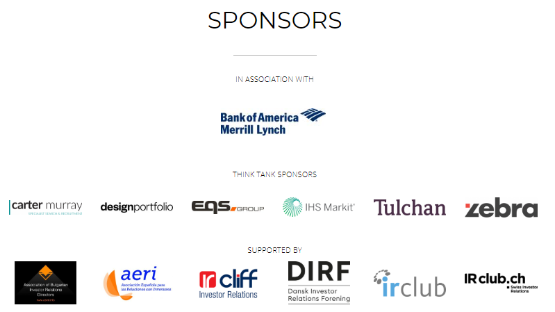 Sponsors for Euro Think Tank 2019